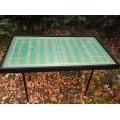 Gombfoci asztal
